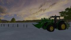 Hertje in de sneeuw