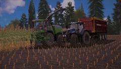Even pauze houden tijdens de mais oogst!