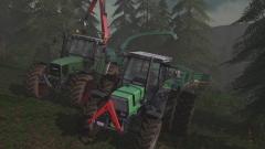 In het bos aan het werk met Maaslandmods!