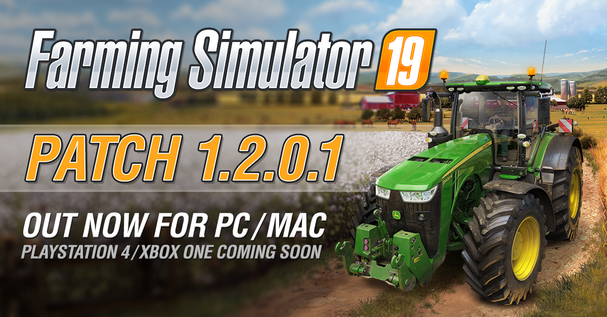 Farming Simulator 19 Update 1.2.0.1